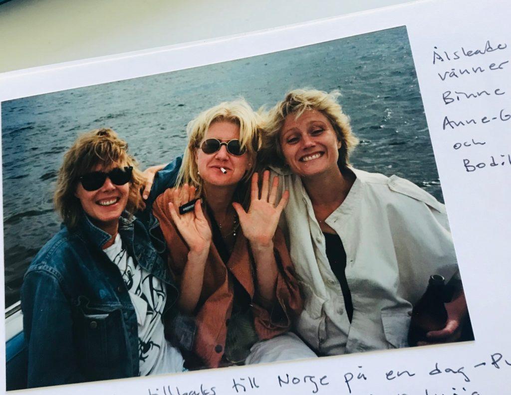 Anne- Grete Preus och Binne i båt