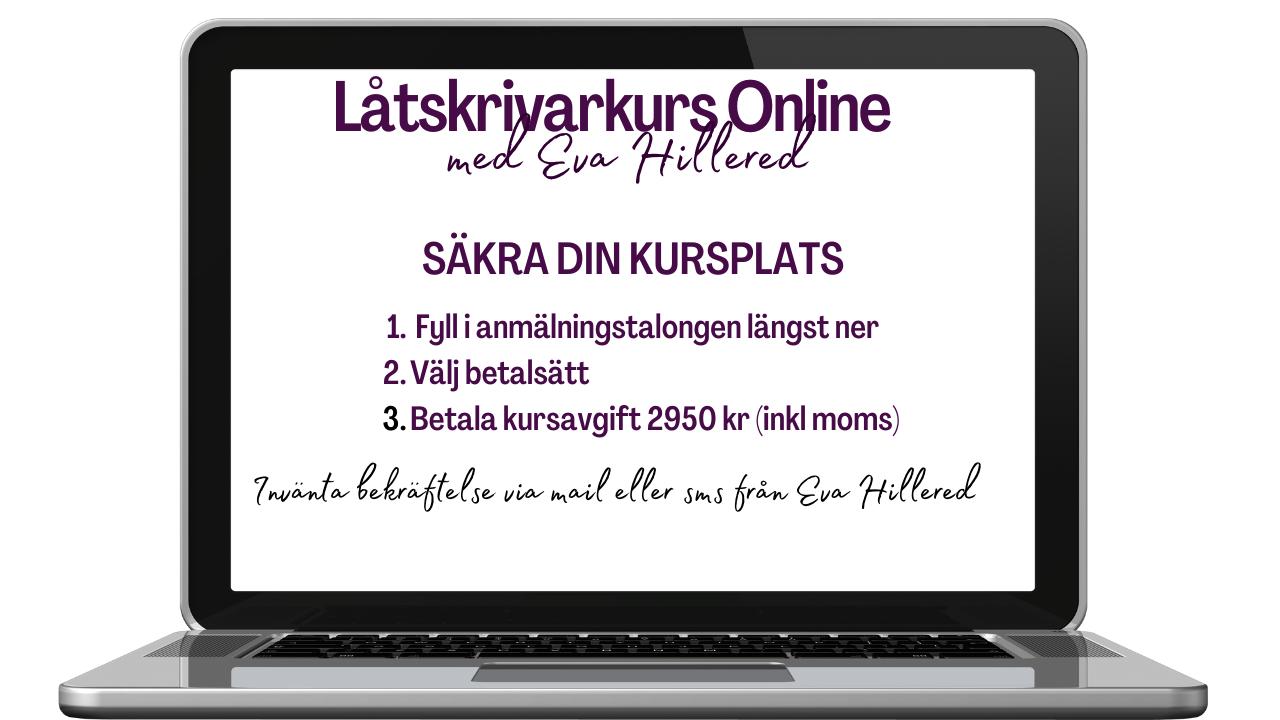 Låtskrivarkurs Online jan22